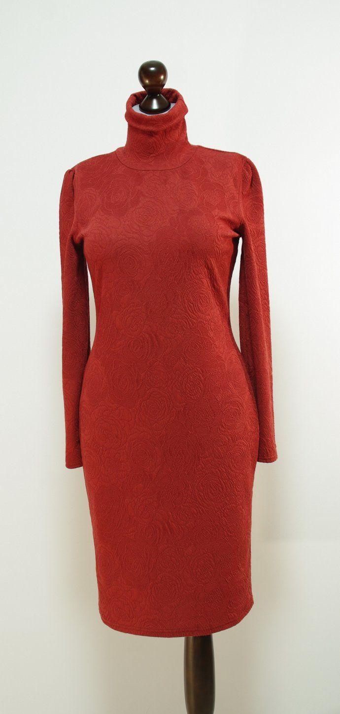 Платье-карандаш цвета корица, средняя длина | Платье-терапия от Юлии