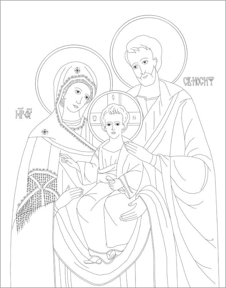 Byzantine Icon Coloring Page Based On The Beautiful Of Holy Family At Ukrainian National Shrine In Washington