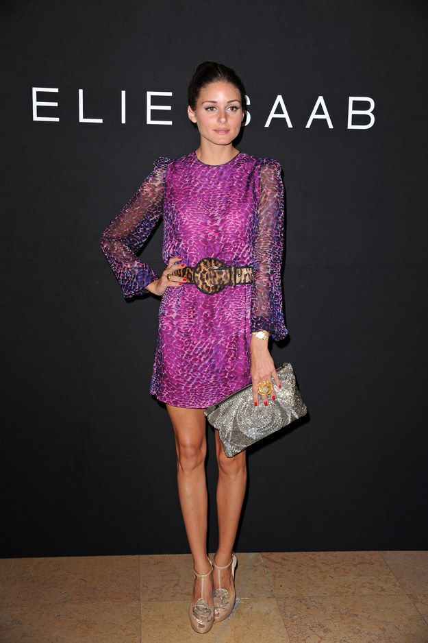This purple dress, please. | 29 Times We Wished We Could Trade Wardrobes With Olivia Palermo