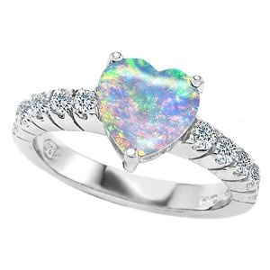 My birthstone is opal, and heart is my favorite shape!