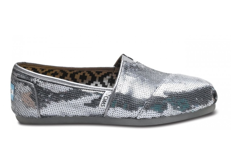 Pewter Sequins Women's Classics: Tom Shoes, Cinderella Shoes, Shoesshoesshoes 3, Shoes Outfits, Sparkle, Silver Sequin