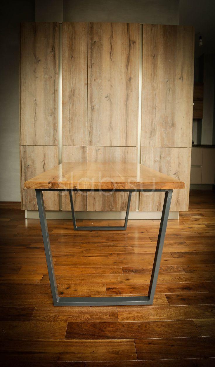 Стол имеет столешницу из массива ореха, покрытую маслом с воском и металлическое основание с порошковым покрытием. Брутальный и в тоже время изысканный стол в стиле Loft украсит ваш интерьер. Его можно использовать как стол в гостиной, как обеденный или даже рабочий. В любом случае, он принесет вам эстетическое удовольствие.   Размеры |150 х 80 х 4| см.   Данная модель может быть изготовлена по индивидуальным параметрам.