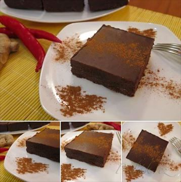Zobrazit detail - Recept - Raw Kakaové řezy s chilli a zázvorem