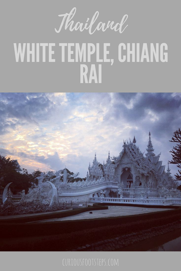 White Temple, Chiang Rai, Wat Rong Khun is a stunning temple in Thailand. A Thai cooking course in Chiang Mai.