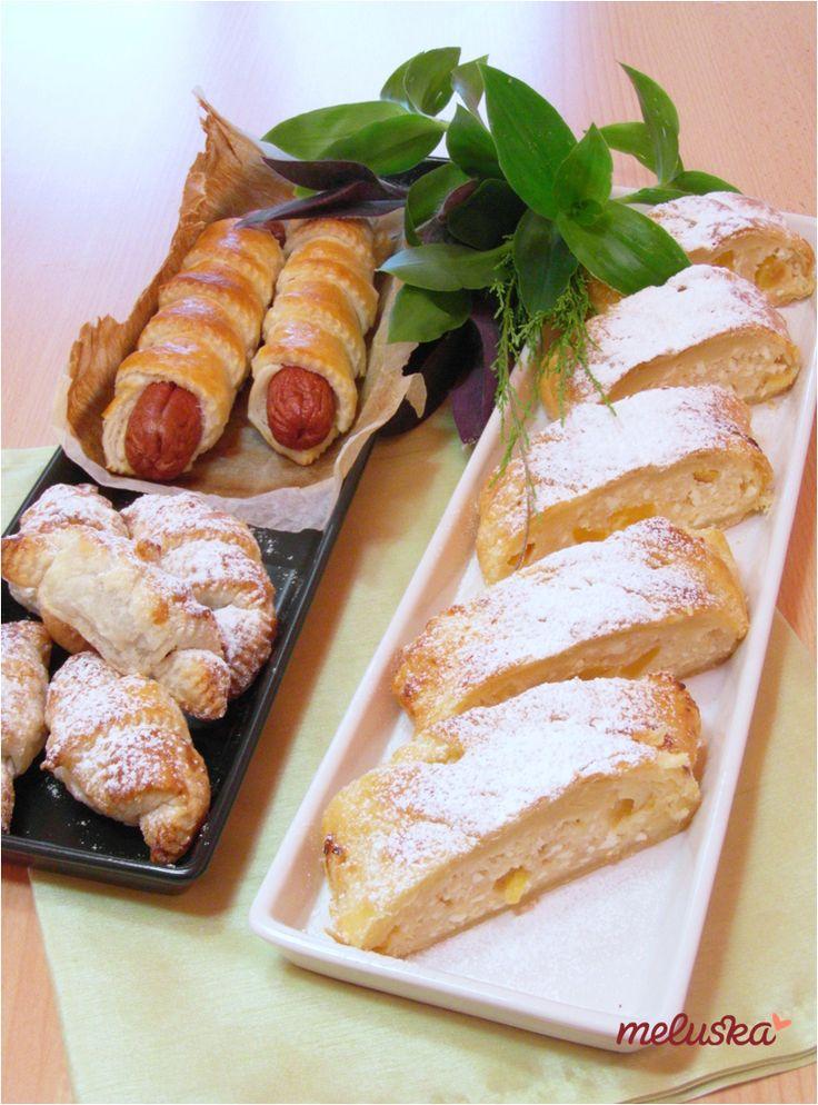 Bolti és házi leveles tésztából készült sütemények