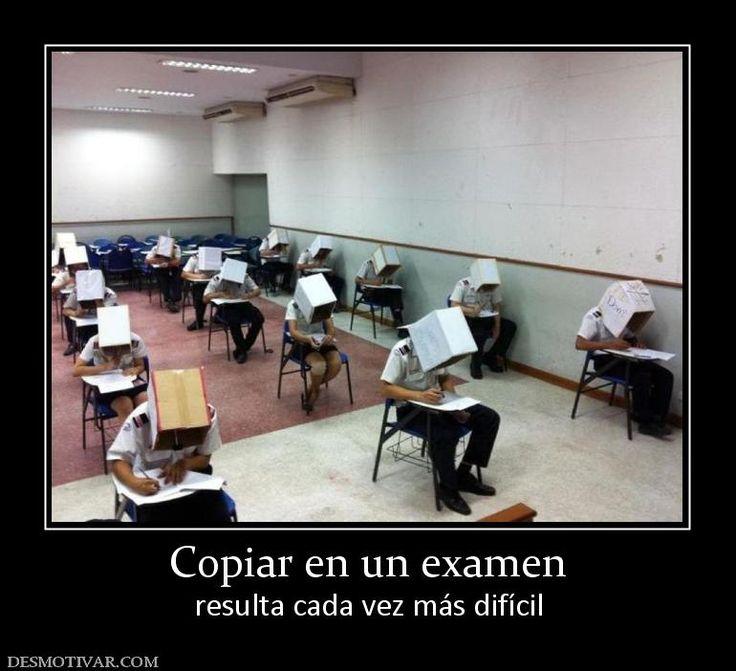 Copiar en un examen cada vez más dificil