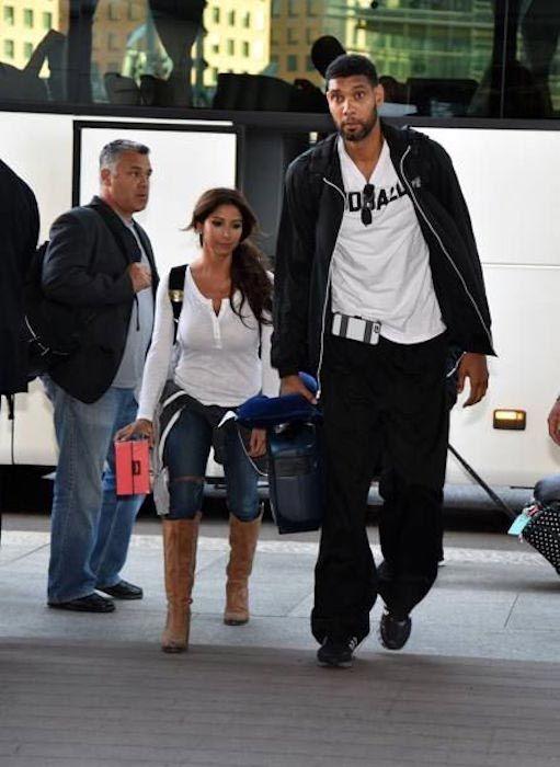 Tim Duncan and Vanessa Macias...
