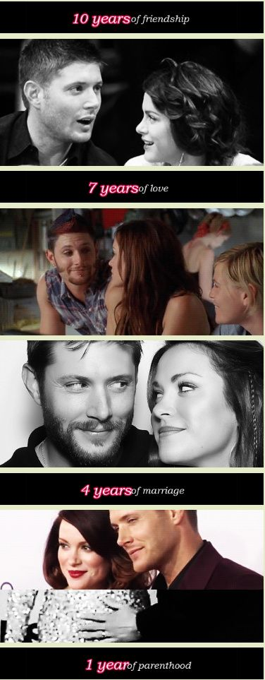 Jensen and Danneel! Their relationship is just beautiful!
