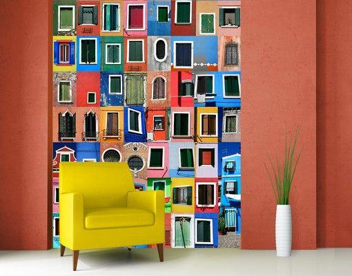 Popular Fototapete Fenster der Welt selbstklebend