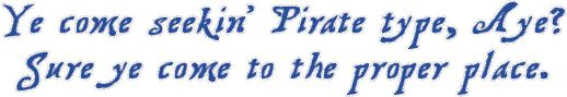 In Search of Pirate Fonts?