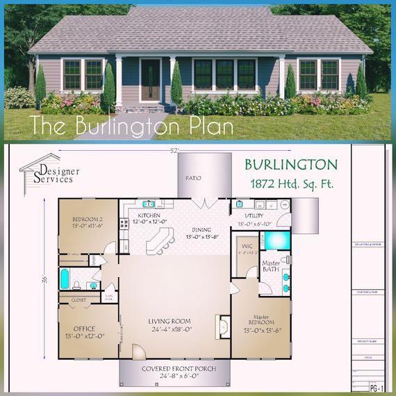 The Burlington House Plan Etsy In 2020 Craftsman House Plans House Plans Farmhouse Burlington House