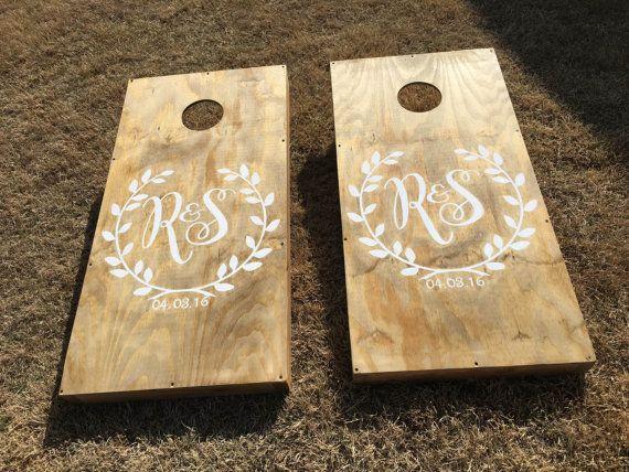 Custom Cornhole Boards & Bags by StarsStripesSawdust on Etsy