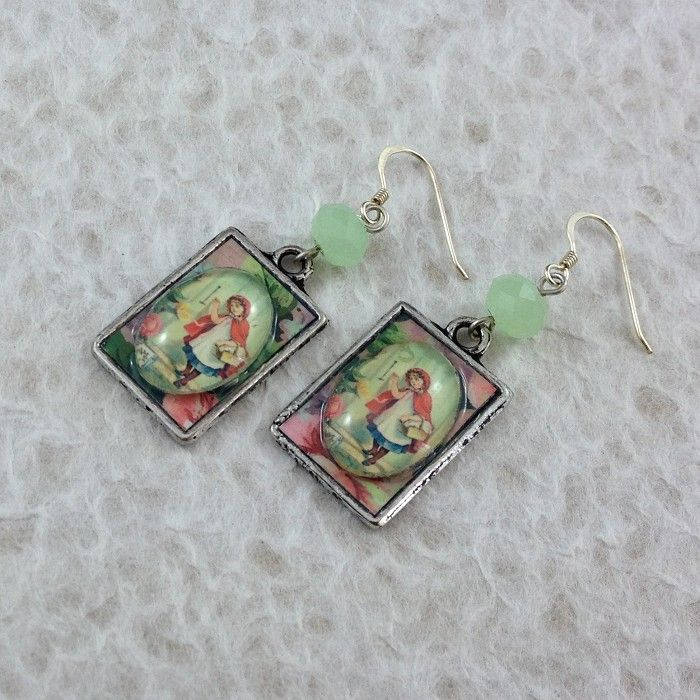 Little Red Riding Hood Photo Earrings