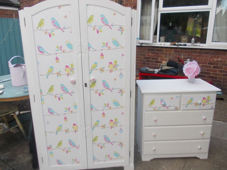 Lovely Upcycled 1930 S Wardrobe Hand Painted And