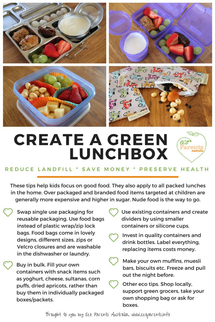 Create a green lunchbox with these simple tips. Great for all lunch boxes in the house, not just the kids.