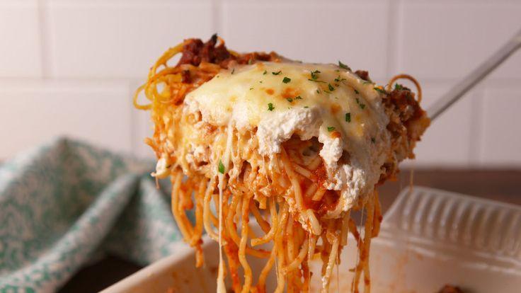 Spaghetti Lasagna...substitute spaghetti squash and it's keto!