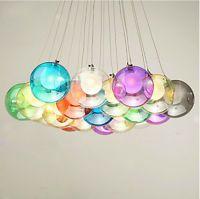 Modern Colorful Bubble Glass Pendant Light G4 LED Chandelier Ceiling Lamp Fixtur