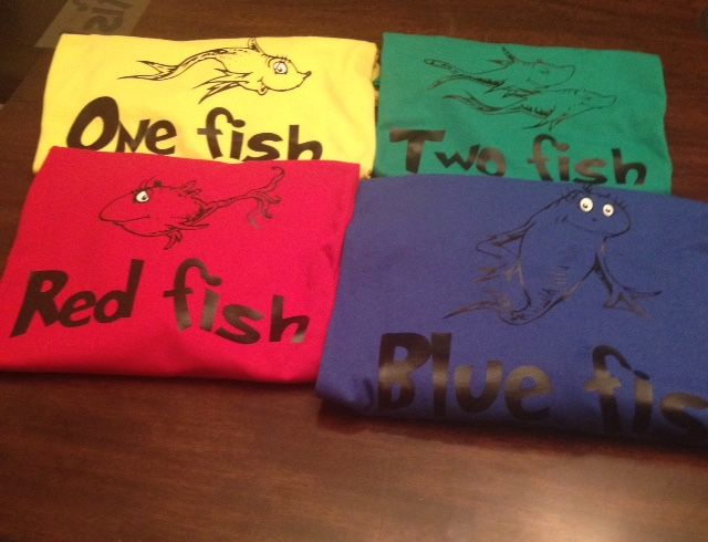 Shirts for One Fish Two Fish Red Fish Blue Fish