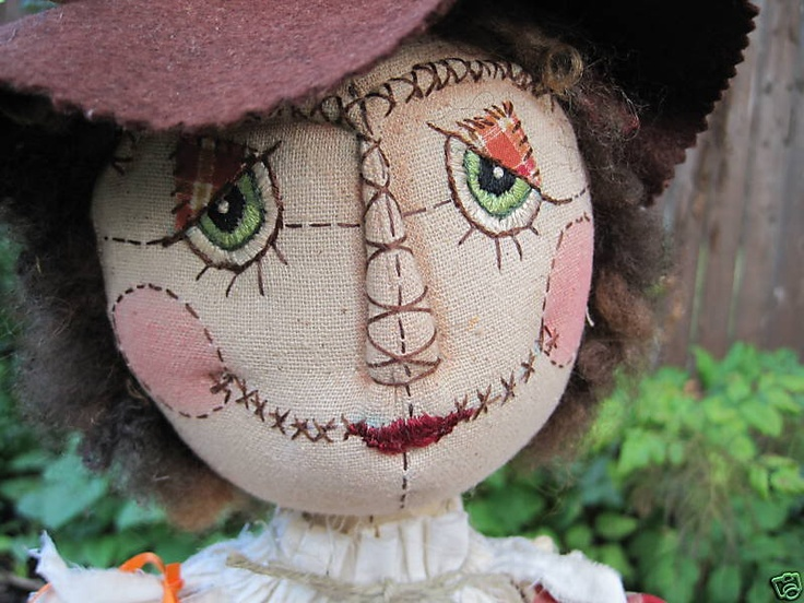 lovely lady scarecrow