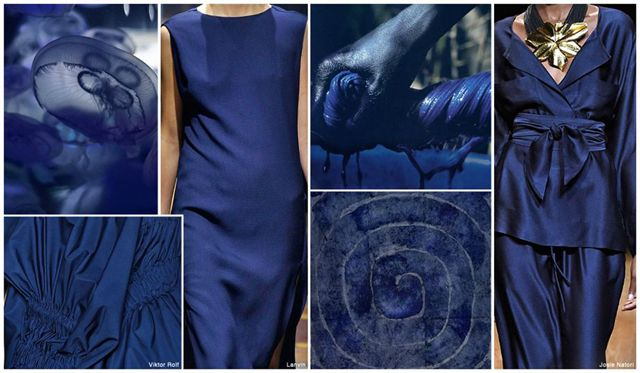 Top Color, Womens Market, S/S 2016, Indigo Indigo presents a strong option somewhere in between navy and cobalt.
