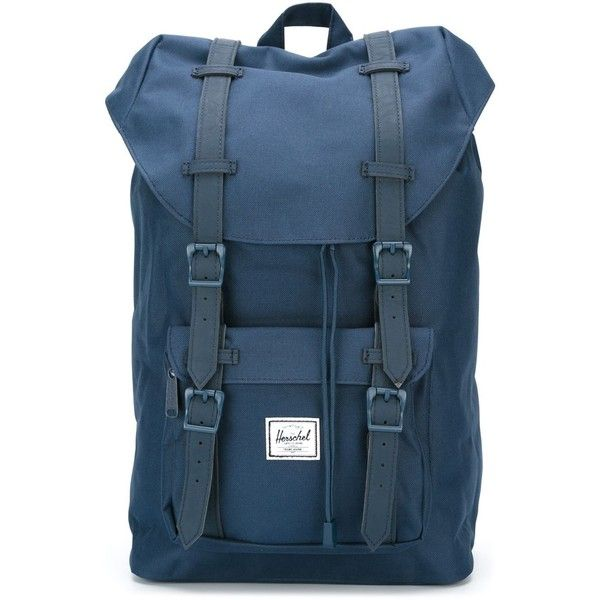 Herschel Supply Co. Little America Backpack ($98) ❤ liked on Polyvore featuring bags, backpacks, blue, herschel supply co., herschel supply co backpack, blue backpack, backpacks bags and blue bag