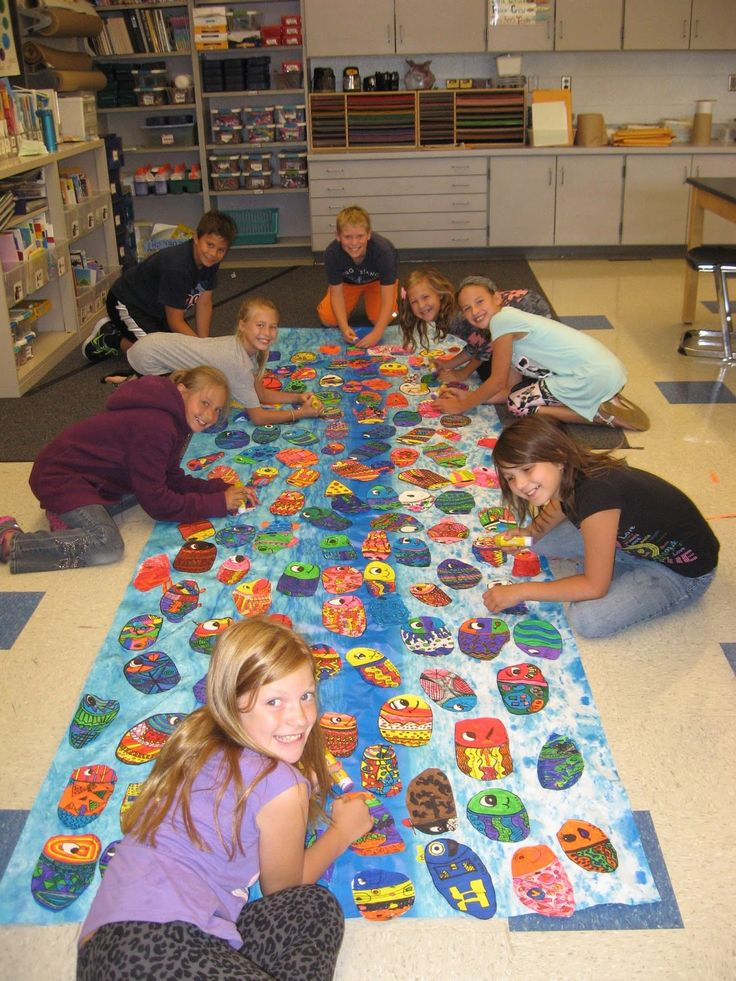 Schoolwide Only One  You Mural to start the year off - Jamestown Elementary Art Blog
