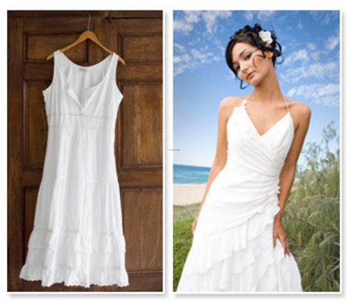 White Linen Beach Wedding Dresses – fashion dresses