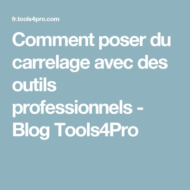 The 25 best comment poser du carrelage ideas on pinterest for Peut on poser du carrelage sur du bois