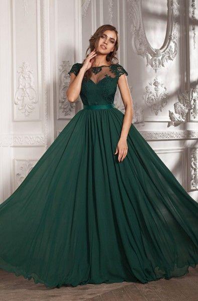 Vestido de 15 color verde esmeralda