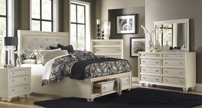 All That Glitters Jordan S Furniture Bedroom Set King Bedroom Sets King Storage Bed