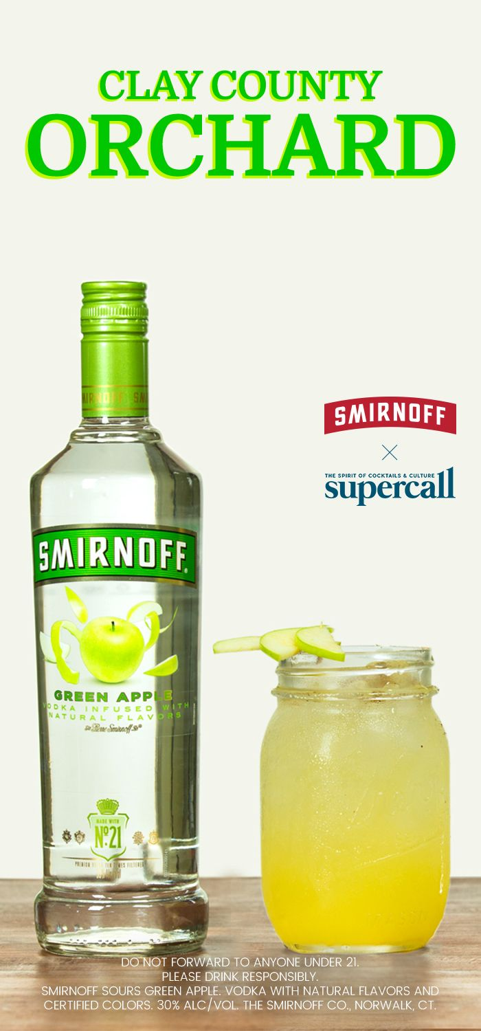 The Clay County Orchard is made with Smirnoff Green Apple and it's the only drink you need this fall. What could be more tantalizing to imbibe at a cozy, dim-lit cocktail party or sophisticated soirée this season than irresistible apples, those timeless emblems of autumn?  #ad