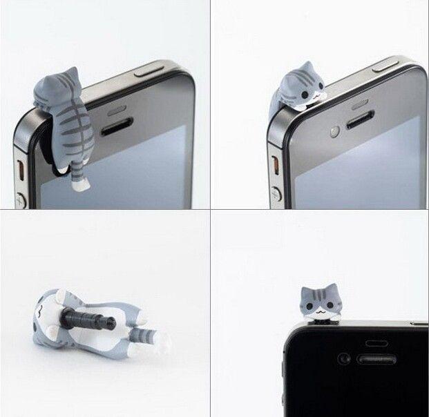 30 pcs 3D Mignon Chat en forme Écouteur jack bouchon anti poussière pour iPhone, mobile téléphone dans Prise de la poussière de Téléphones et Télécommunications sur AliExpress.com | Alibaba Group