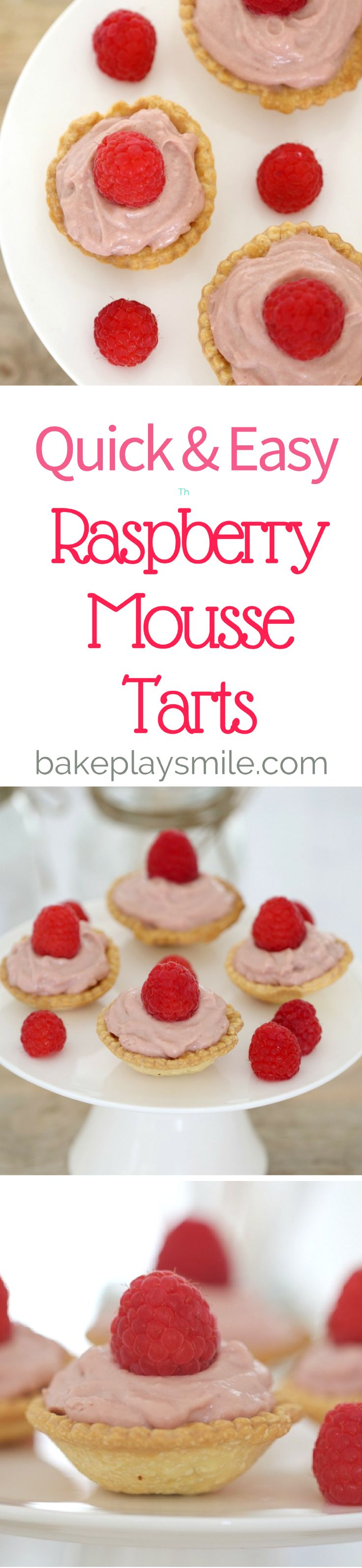 Mini Raspberry Mousse Tarts... the very best bite-sized dessert going round! The perfect combination of sweet and fruity – you're going to fall head over heels in love!   #mousse #raspberry #mini #individual #desserts #pastry #tarts #thermomix #conventional #Christmas