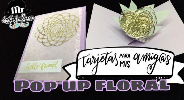 Tag Tarjetas Para Mis Amig@s : tarjeta pop up 3d floral