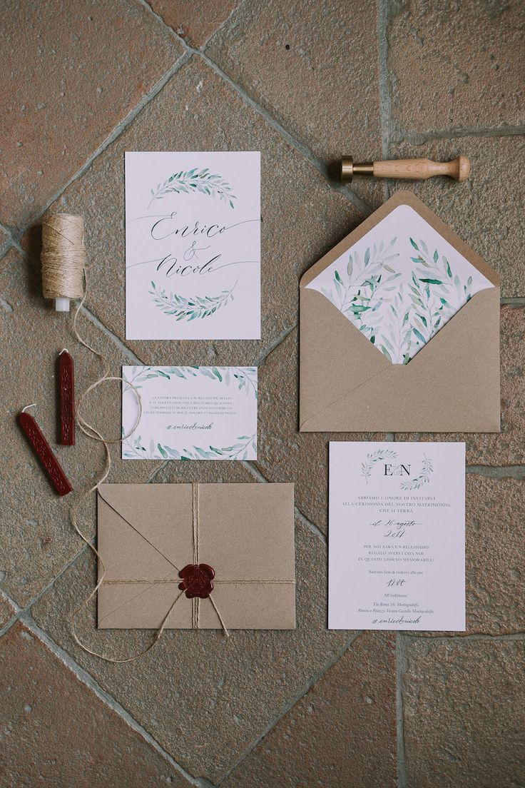 wedding invitations gifts%0A Foglie d u    ulivo per un matrimonio organico