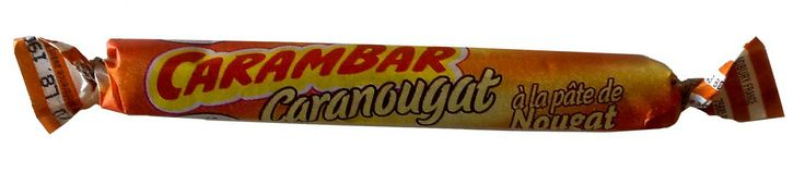 CARAMBAR CARANOUGAT (16 PIECES) $4.50 Carambar has been a favorite of French kids since the 1950's. And French adults are easily tempted too. Those who like both caramel and nougat won't be able to resist this variation on the classic Carambar: Caranougat.  Carambars are made by La Pie Qui Chante (litterally, the Singing Magpie), one of the most popular French candy brands.  128 grams / 4.5 oz   (16 individually wrapped pieces)