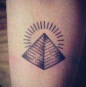 Sun And Pyramid Tattoo