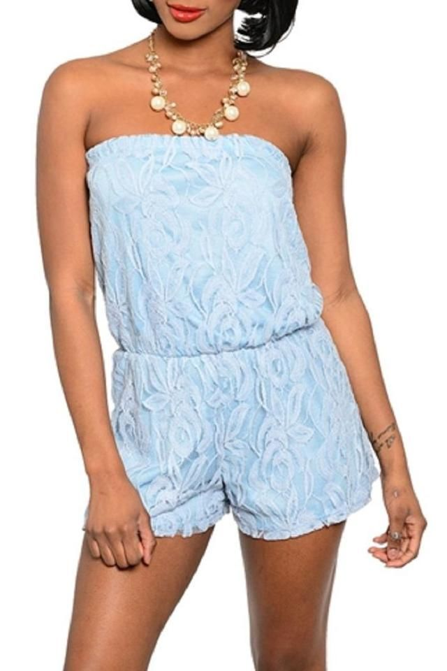 Blue Lace Romper on ShopStyle