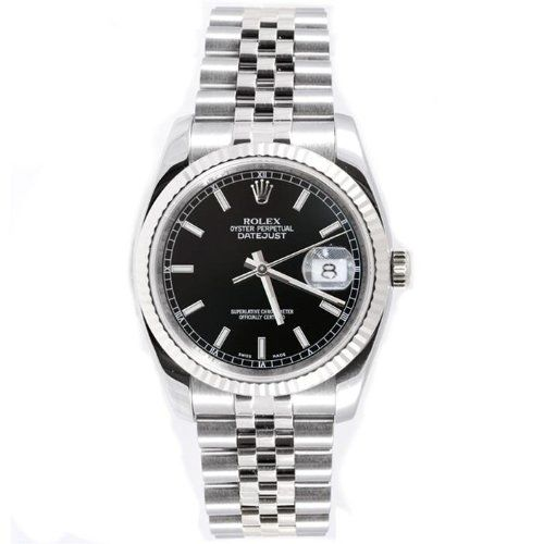 Rolex Mens New Style Heavy Band Stainless Steel Datejust Model 116234 Jubilee Band 18K White Gold Fluted Bezel Black Stick Dial https://www.carrywatches.com/product/rolex-mens-new-style-heavy-band-stainless-steel-datejust-model-116234-jubilee-band-18k-white-gold-fluted-bezel-black-stick-dial/ Rolex Mens New Style Heavy Band Stainless Steel Datejust Model 116234 Jubilee Band 18K White Gold...
