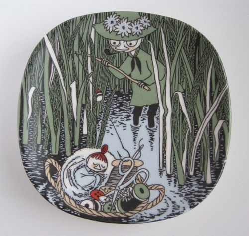 An Extremely RARE Arabia of Finland Moomin Wall Plate Snufkin and Little My | eBay