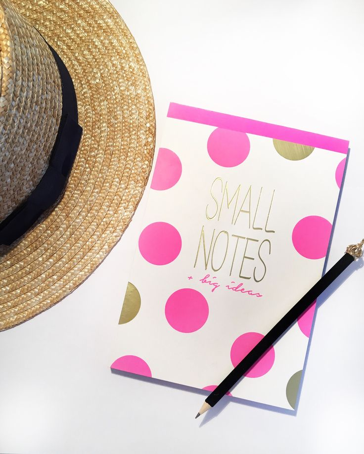 #hat #smallnotes #notes #pink #dots