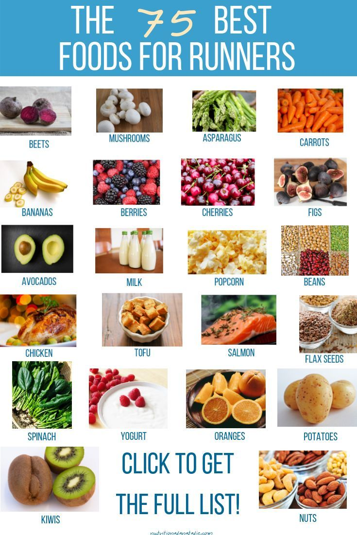 The Most Comprehensive List Of The Absolute Best Foods To Add To Your Runner S Diet Whether You Re A Runners Food Best Food For Runners Nutrition For Runners