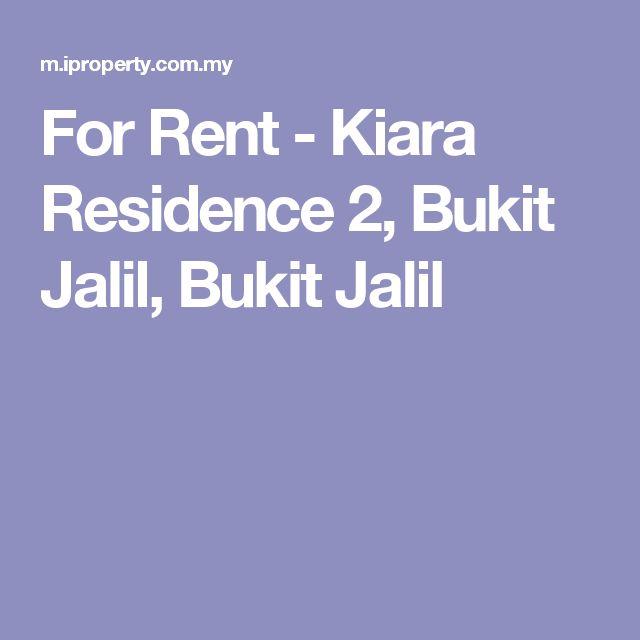 For Rent - Kiara Residence 2, Bukit Jalil, Bukit Jalil