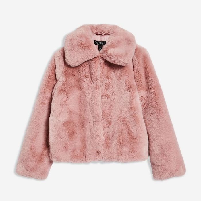 Faux Fur Coat from Topshop on 21 Buttons