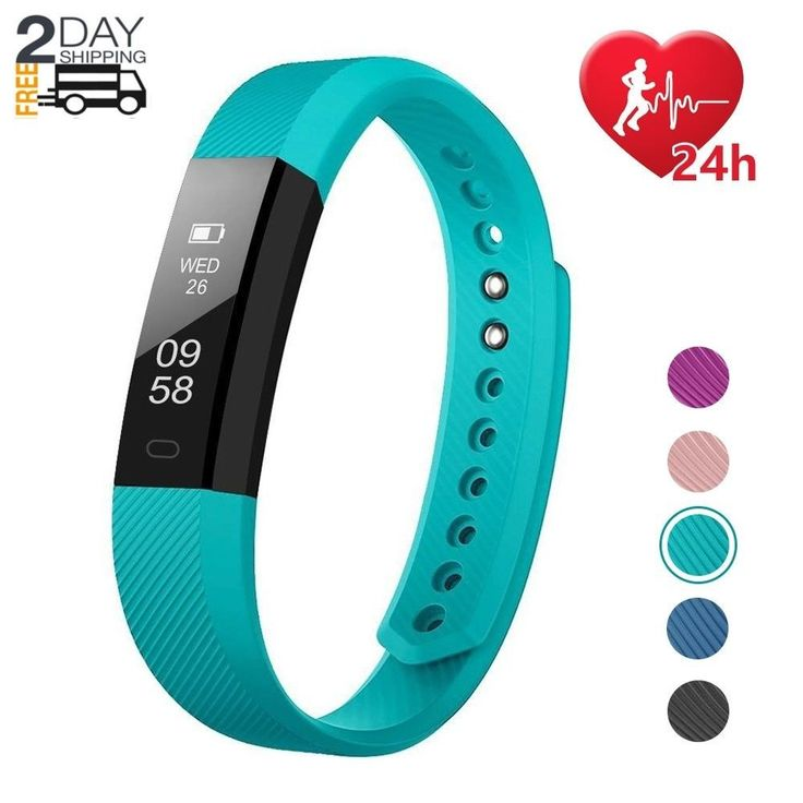 Fitness Activity Tracker Watch Fitbit Heart Rate Monitor Pedometer Android IOS | eBay