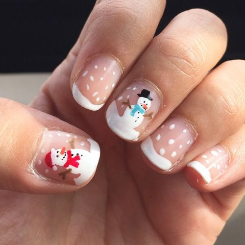 cute-snowman-nails via