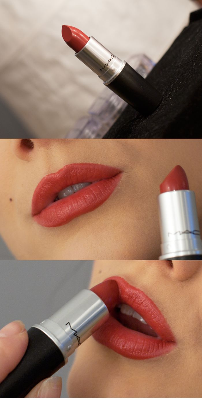Mac apres chic lipstick red - I love this unusual muted colour. Need to get it!