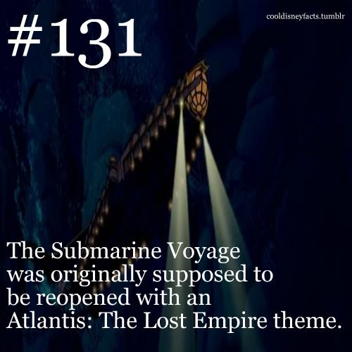 The Submarine Voyage was originally supposed to be reopened with an Atlantis: Th…