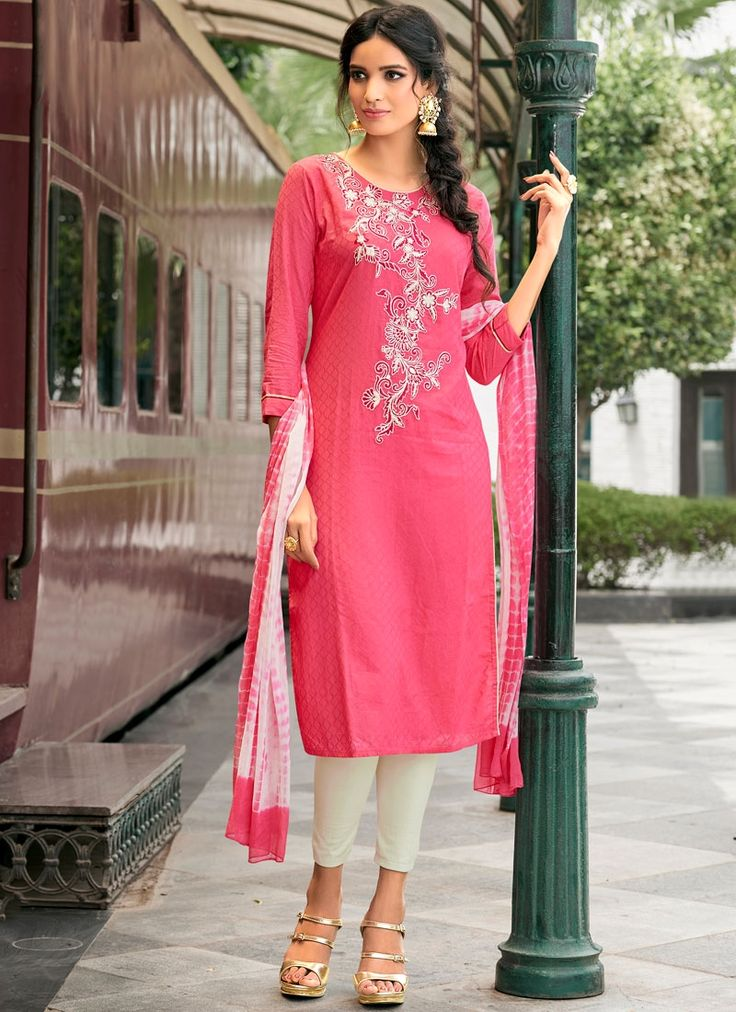 Buy unique collection of anarkali designer salwar suits online in india, usa, uk, canada. Buy this snazzy cotton   churidar suit for casual.