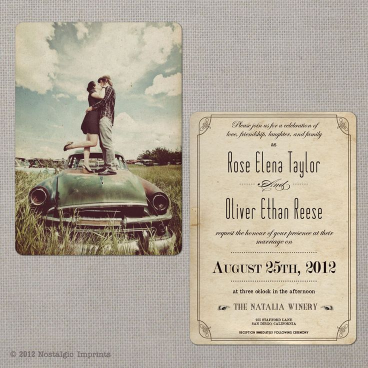 31 best Wedding Invitations images on Pinterest | Vintage weddings ...